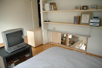完璧派の寝室