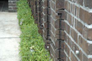 落ち着いた家 植栽とレンガ